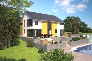 Bild: Generationshäuser, Häuser mit Einliegerw... Bauweise: Fertighaus, industrielle Vorfertigung Bauart: Holzhaus, Fachwerk