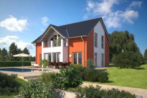 Bild: Klassische Einfamilienhäuser Bauweise: Fertighaus, industrielle Vorfertigung Bauart: Holzhaus, Fachwerk