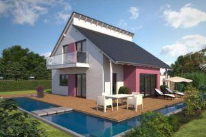 Bild: Moderne Hausentwürfe mit Pultdach & vers... Bauweise: Fertighaus, industrielle Vorfertigung Bauart: Holzhaus, Fachwerk