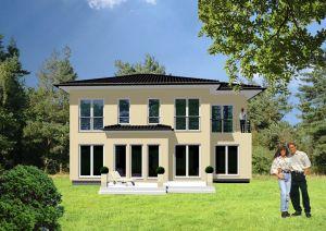 Bild: Zweigeschossige Stadthäuser - mediterran... Bauweise: Fertighaus, industrielle Vorfertigung Bauart: Holzhaus, Fachwerk