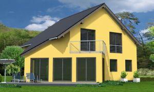 Bild: ANITA 160 Bauweise: Fertighaus, industrielle Vorfertigung Bauart: Holzhaus, Holztafelbau