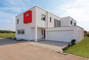 Bild: Flachdach 359 Bauweise: Fertighaus, industrielle Vorfertigung Bauart: Holzhaus, Fachwerk
