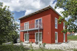 Bild: Pultdach Klassik 147 Bauweise: Fertighaus, industrielle Vorfertigung Bauart: Holzhaus, Fachwerk