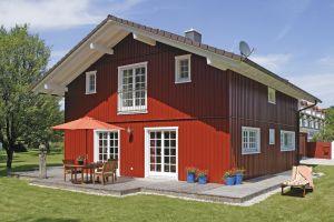 Bild: Vitalhaus Eva Bauweise: Fertighaus, industrielle Vorfertigung Bauart: Holzhaus, Holzständerwerk