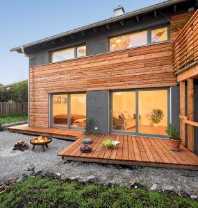 Bild: Waakirchen Bauweise: Fertighaus, industrielle Vorfertigung Bauart: Massivhaus, Porenbetonsteine