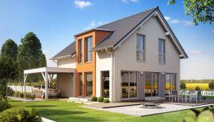 Bild: SUNSHINE 136 V2 Bauweise: Fertighaus, industrielle Vorfertigung Bauart: Holzhaus, Holztafelbau