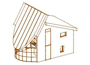 Bild:  Sony  Bauart: Holzhaus, Holzrahmenbau