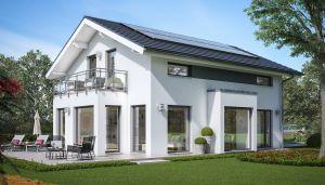 Bild: SUNSHINE 143 V4 Bauweise: Fertighaus, industrielle Vorfertigung Bauart: Holzhaus, Holztafelbau