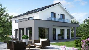 Bild: SUNSHINE 165 V4 Bauweise: Fertighaus, industrielle Vorfertigung Bauart: Holzhaus, Holztafelbau