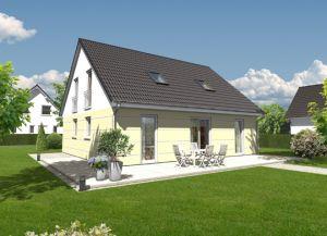 Bild: Das Mitwachshaus Flair 148 Bauweise: Bau vor Ort, traditioneller Hausbau Bauart: Massivhaus, Ziegelsteine