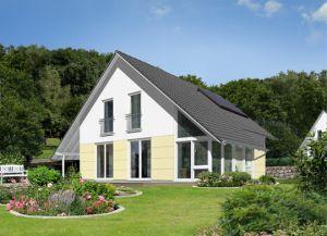 Bild: Das Wintergartenhaus 118 Bauweise: Bau vor Ort, traditioneller Hausbau Bauart: Massivhaus, Ziegelsteine