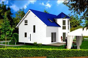 Bild: Turmhaus 135 Bauweise: Fertighaus, industrielle Vorfertigung Bauart: Massivhaus, Porenbetonsteine